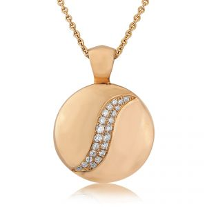 Rudells Dune 18ct Rose Gold Diamond Set Pendant