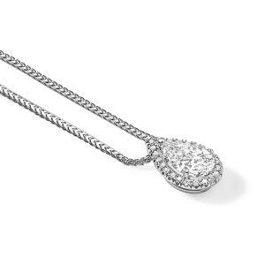 18ct White gold pear shaped diamond pendant 1.68ct