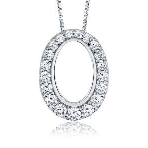 Diamond Set 18ct White Gold Pendant