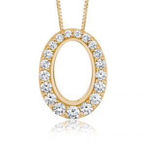 Diamond Set 18ct Yellow Gold Pendant