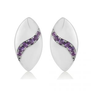 Rudells Dune Silver and Amethyst Earrings
