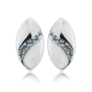 Rudells Dune Silver and Blue Topaz Earrings