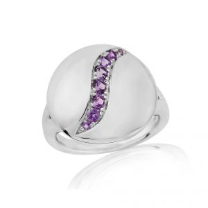 Rudells Dune Silver and Amethyst Ring