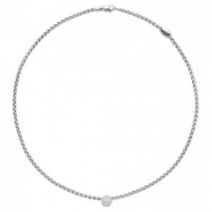 Eka Tiny Necklace With Diamond Pavé Pendant