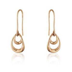 Georg Jensen Offspring 18ct Rose Gold Drop Earrings