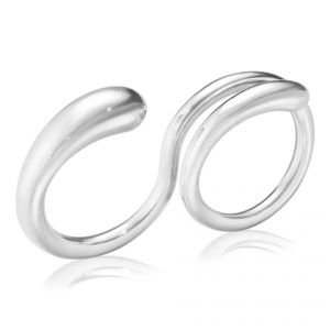Mercy Double Ring - Sterling Silver