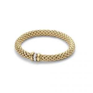 Fope 18ct Yellow Gold Love Nest Bracelet