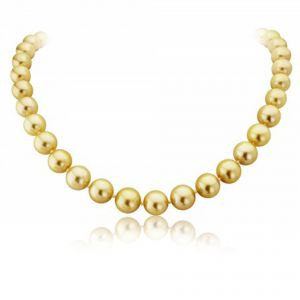 Golden Pearl Necklet with 18ct Yellow Gold Detailing