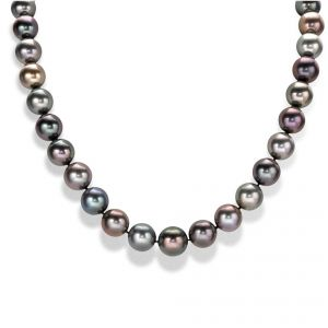 Mikimoto Black Pearl Necklet with Ball Clasp