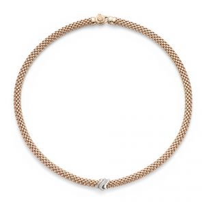 Fope 18ct Rose Gold Flex'It Vendome Diamond Necklet