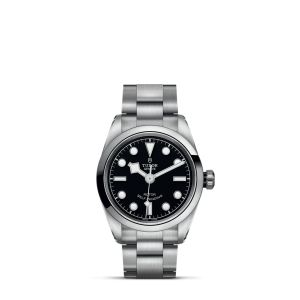 Stainless Steel Black Bay 32mm Black Dial With Polished Bezel On Bracelet