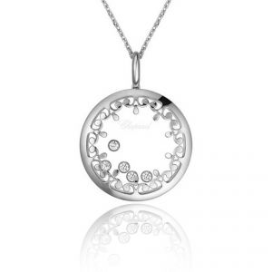 Chopard 18ct White Gold Happy Diamond Pendant