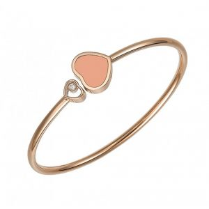 Chopard 18ct Rose Gold Happy Hearts Pink Bangle
