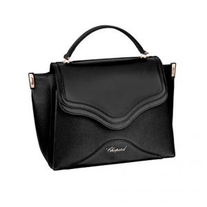 BLACK SMALL GRAINED CALFSKIN LEATHER / BLACK SMOOTH CALFSKIN LEATHER