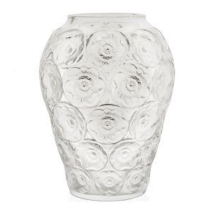 Lalique Anemones vase clear