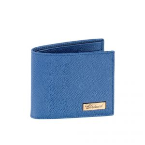 Classic blue mini wallet No9 with rose colour logo