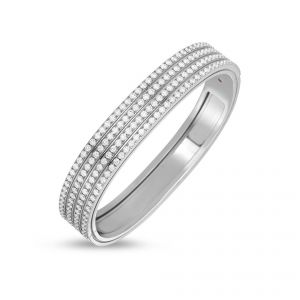 Roberto Coin 18ct White gold Portofino Four Row Diamond Set Bangle