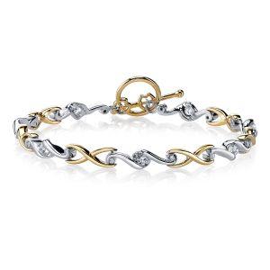 18ct Yellow and White Gold Diamond Bracelet