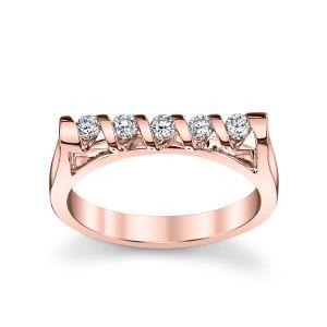 18ct Rose Gold Sirena 5 Stone Ring