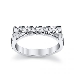 18ct White Gold Sirena 5 Stone Ring