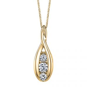 18ct Yellow Gold Sirena Diamond Pendant 0.33ct