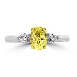 Platinum and Yellow Diamond ring
