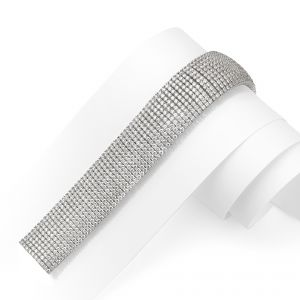 A truly breathtaking 'cuff' style bracelet intricately set with over 30cts of brilliant cut Diamonds in 18ct White Gold