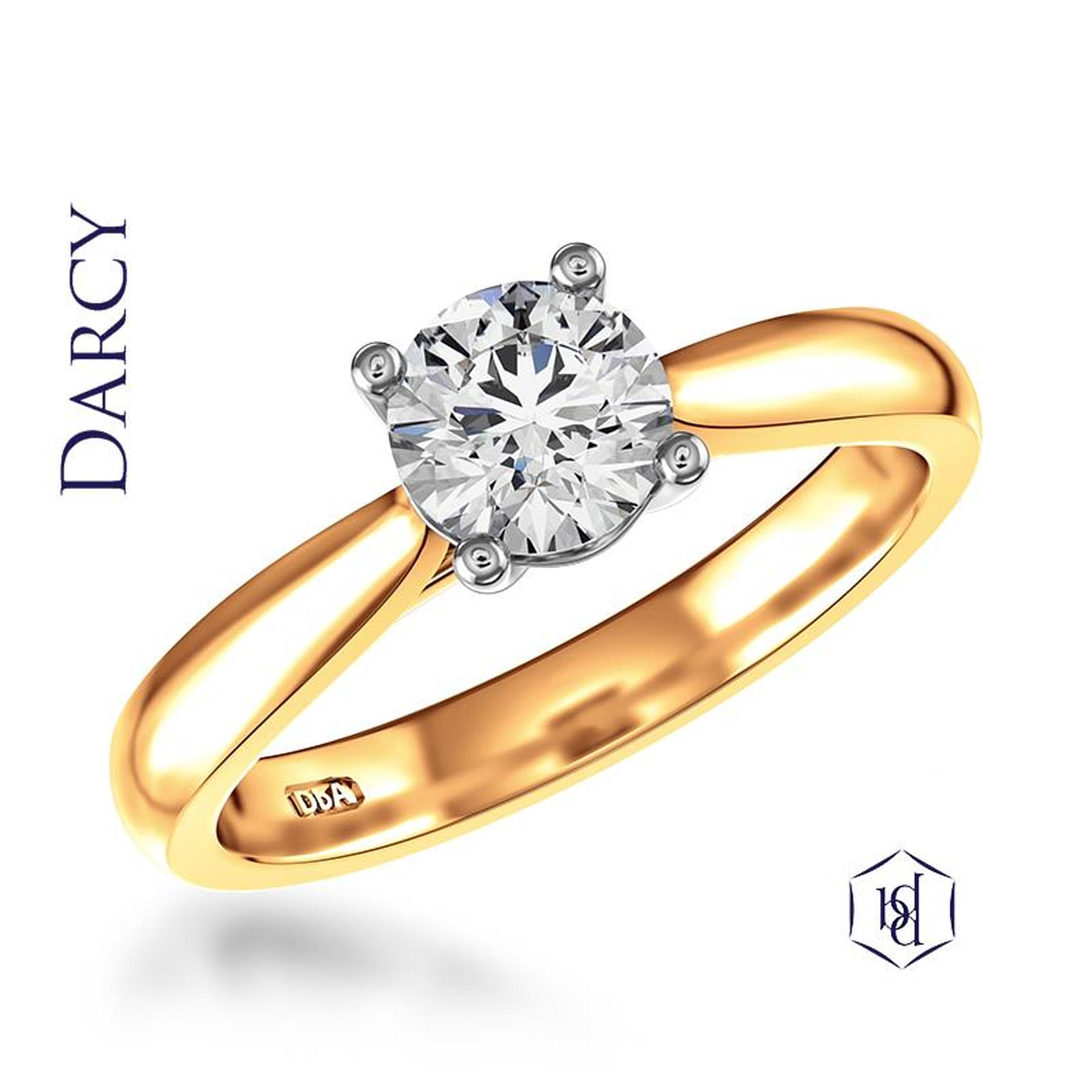 18ct Yellow Gold Darcy 0.35ct Engagement Ring