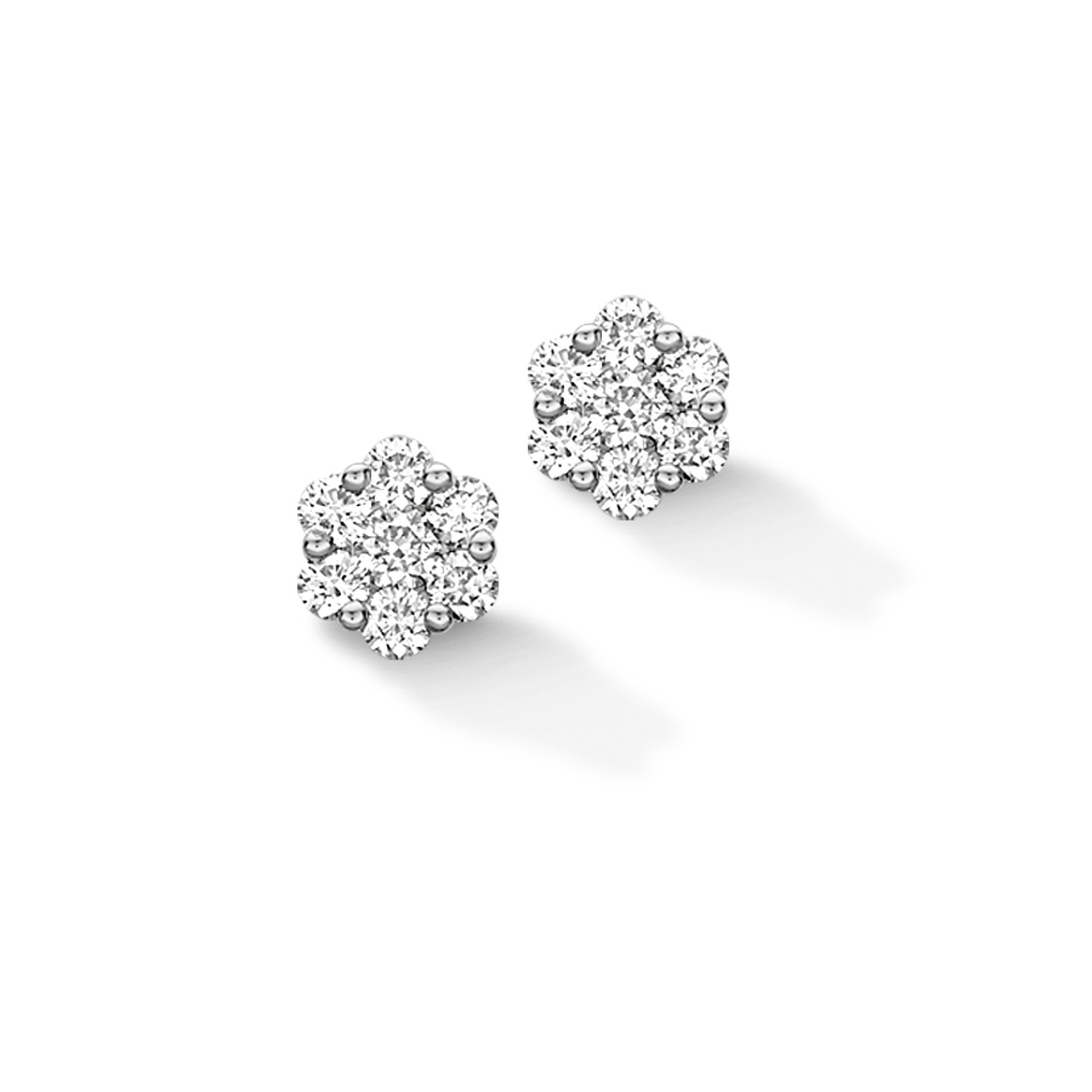 Rudells Daisy 18ct White Gold Diamond Earrings 1.00ct