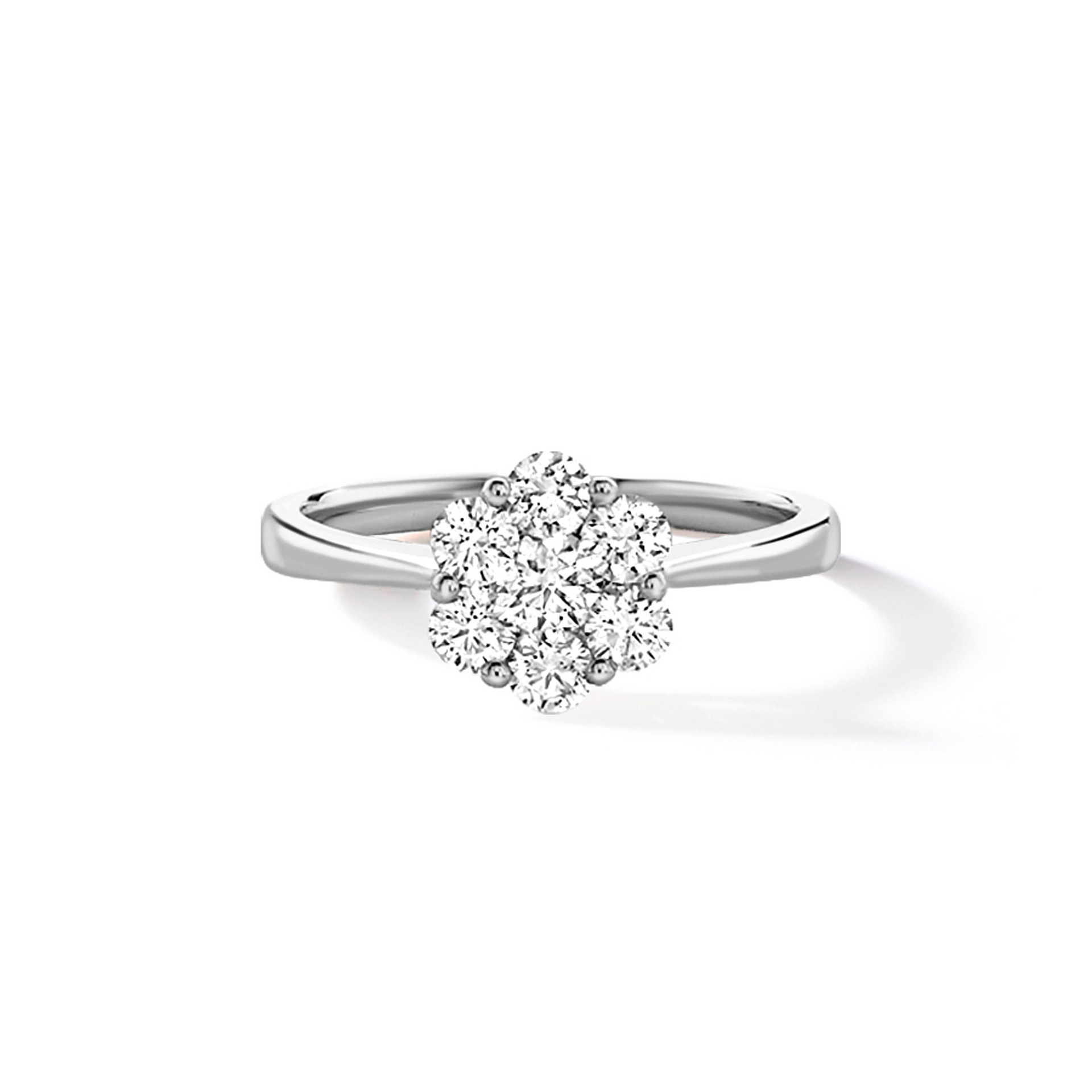 RUDELLS DAISY 18CT WHITE GOLD DIAMOND RING 1.00CT